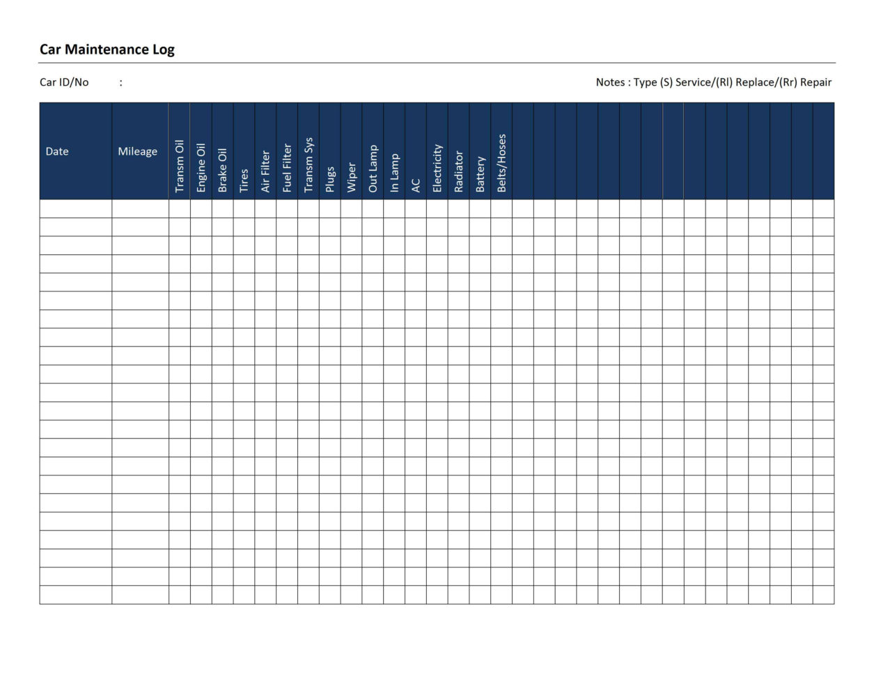 Car Maintenance Spreadsheet Within Car Maintenance Schedule Template Spreadsheet Example Of  Pianotreasure