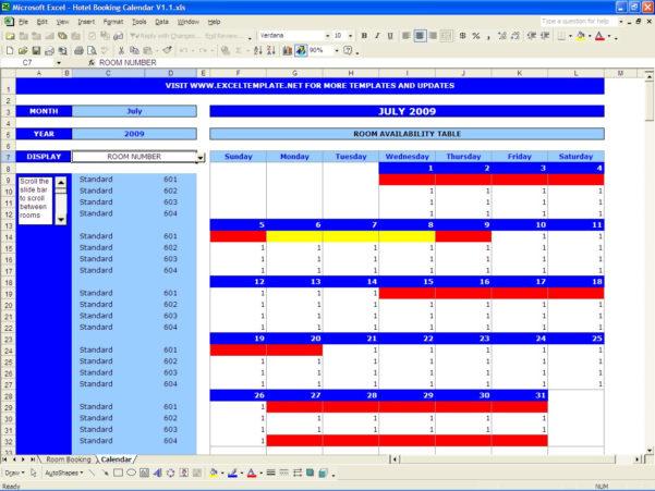 Car Rental Reservation Spreadsheet Inside Booking Calendar  Excel Templates