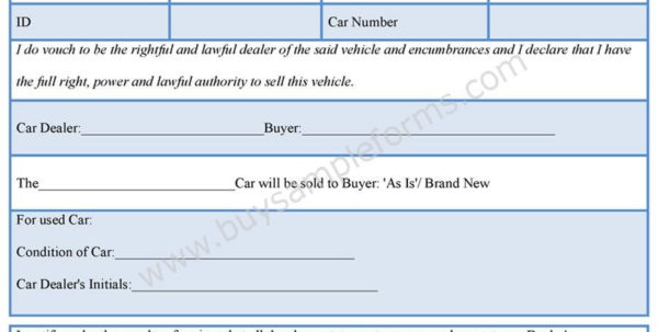 Car Sales Spreadsheet Template With Regard To Car Dealer Bill Of Sale Form Forms Pinterest Cars Download Sample