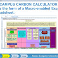 Carbon Footprint Calculator Excel Spreadsheet For Organizational Sustainability  Ppt Download