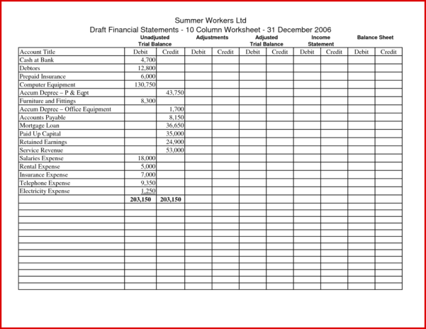 Cash Basis Accounting Spreadsheet Intended For New Accounting Worksheets Printable  Wing Scuisine
