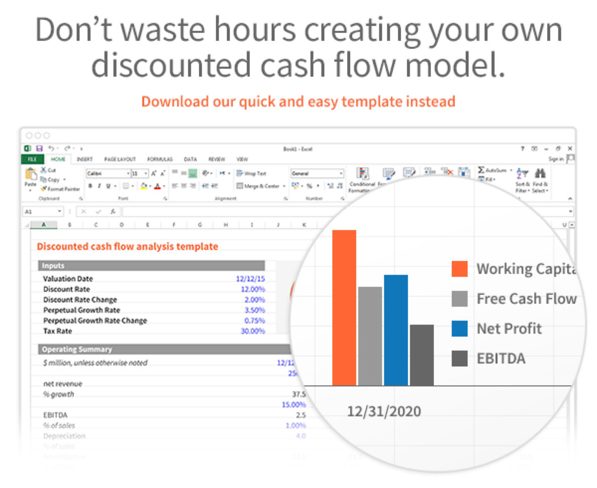 Cash Flow Analysis Spreadsheet Intended For Dcf Discounted Cash Flow Model  Excel Template  Eloquens