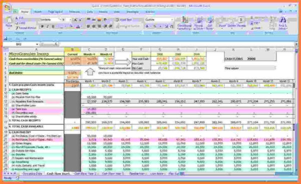 Cash Flow Budget Spreadsheet With Regard To Cash Flow Budget Worksheet Excel 2 – Elsik Blue Cetane