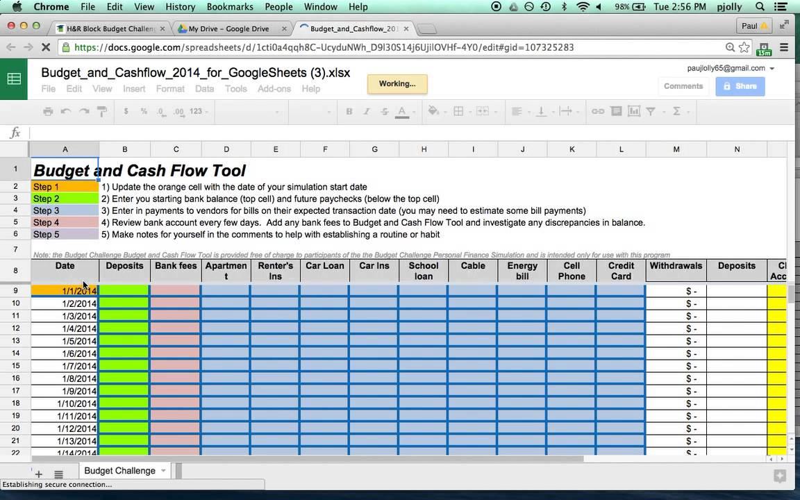 Cash Flow Budget Spreadsheet With Regard To Cash Flow Budget Worksheet Excel 6 – Elsik Blue Cetane