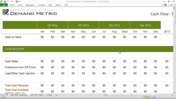 Cash Flow Excel Spreadsheet Pertaining To Cash Flow Projection Spreadsheet  Aljererlotgd