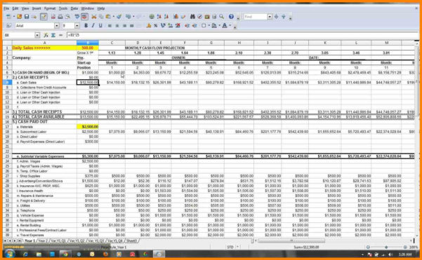 Cash Flow Forecast Spreadsheet For Excel Cash Flow Forecast Lbl Home Defense Products Spreadsheet