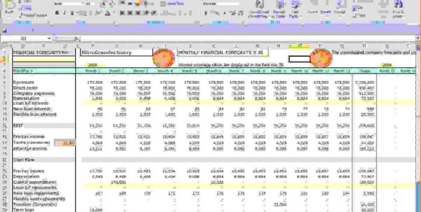 Cash Flow Forecast Spreadsheet Throughout 020 Cash Flow Forecast Templates Template Ideas ~ Ulyssesroom
