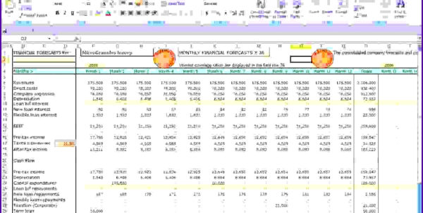 Cash Flow Projection Spreadsheet Template Throughout Financial Forecast Template Excel Invoice Example Free