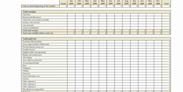 Cash Flow Spreadsheet Download For Cash Flow Template For Startup Business Free Downloads Startup