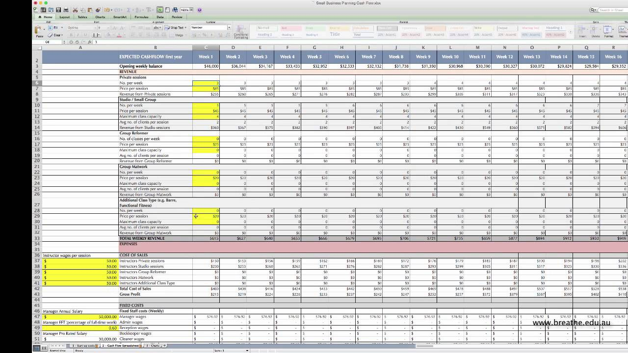 Cash Flow Spreadsheet Download Inside Cash Flow Spreadsheet Personal Template Free Forecast Download Home