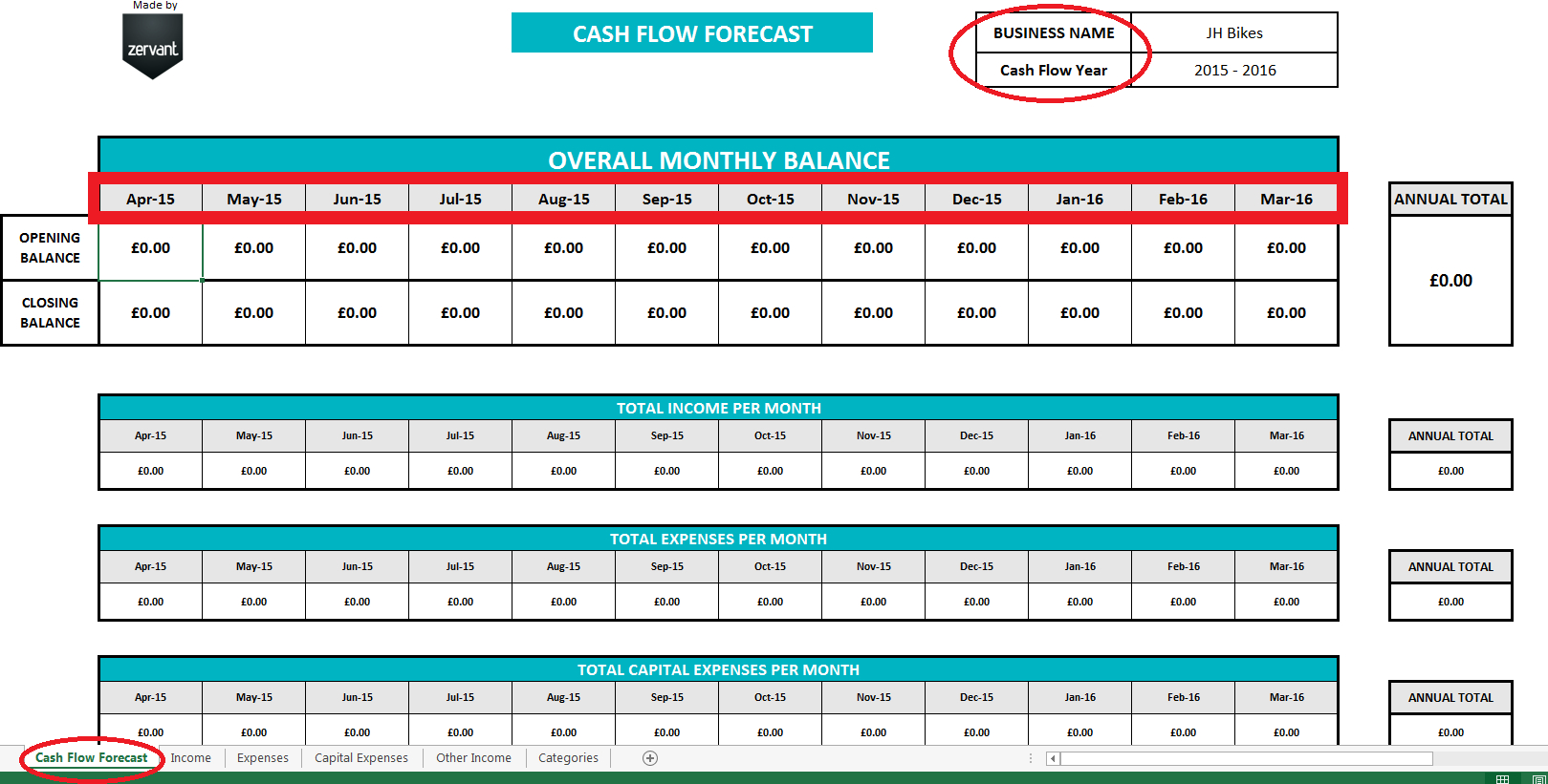 Cash Flow Spreadsheet Excel With Regard To Free Uk Cash Flow Template  Zervant Blog