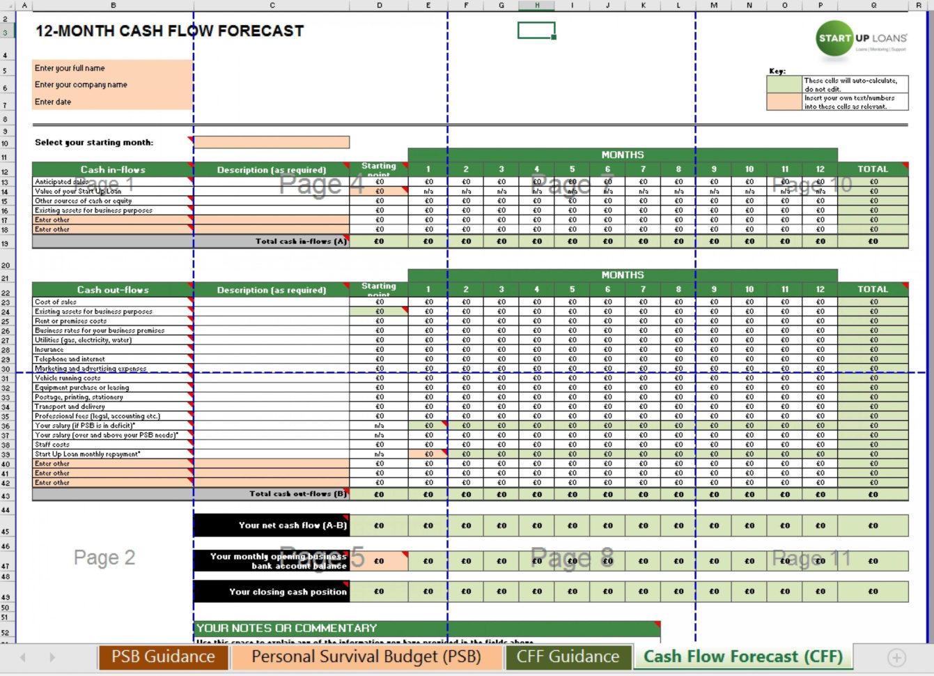 Cash Flow Spreadsheet Template Free Throughout 013 Free Weekly Cash Flow Forecast Template Excel Monthly