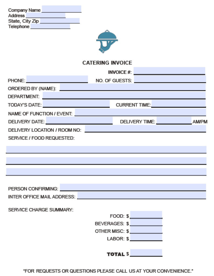 Catering Expenses Spreadsheet Intended For Catering Invoice Samples Sample Outdoor Format Bill Forms Template