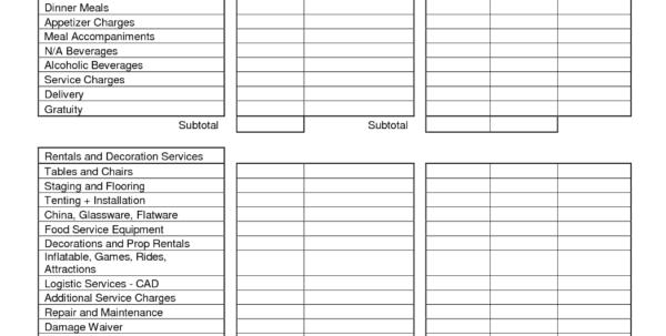Catering Expenses Spreadsheet Regarding Party Expenses Spreadsheet  Homebiz4U2Profit