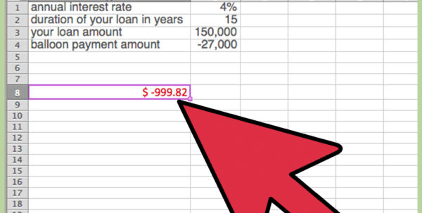 Ccim Excel Spreadsheets In How To Calculate A Balloon Payment In Excel With Pictures