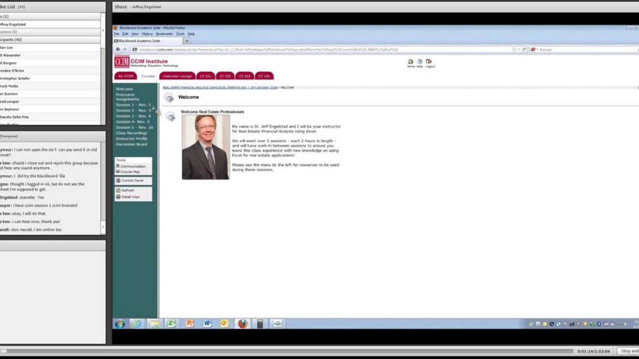 Ccim Excel Spreadsheets With Real Estate Financial Analysis Using Excel Session 1 On Vimeo