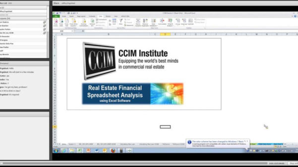 Ccim Excel Spreadsheets With Real Estate Financial Analysis Using Excel Session 3 On Vimeo