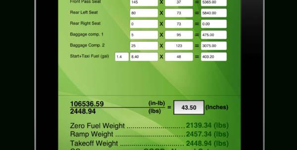 Cessna 150 Weight And Balance Spreadsheet Throughout Aviation Wb Calculator  Weight And Balance Calculations Made Easy