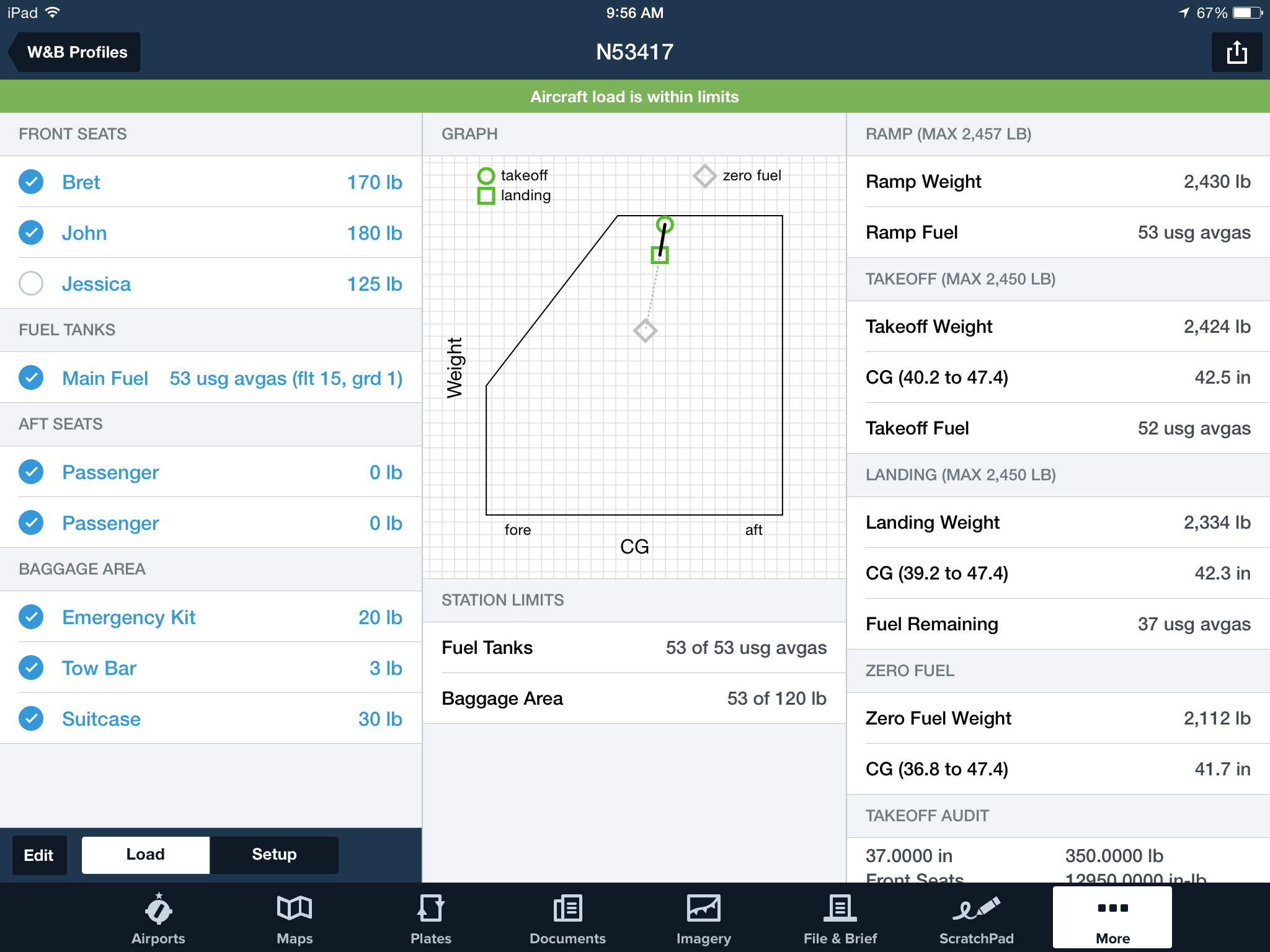 Cessna 206 Weight And Balance Spreadsheet Inside How To Calculate Weight And Balance In Foreflight  Ipad Pilot News