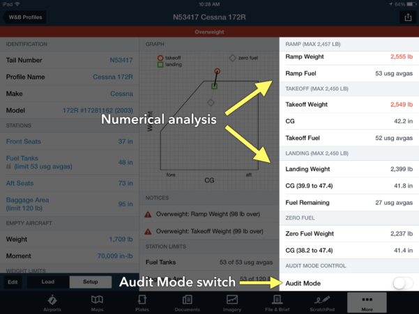 Cessna 206 Weight And Balance Spreadsheet Intended For How To Calculate Weight And Balance In Foreflight  Ipad Pilot News