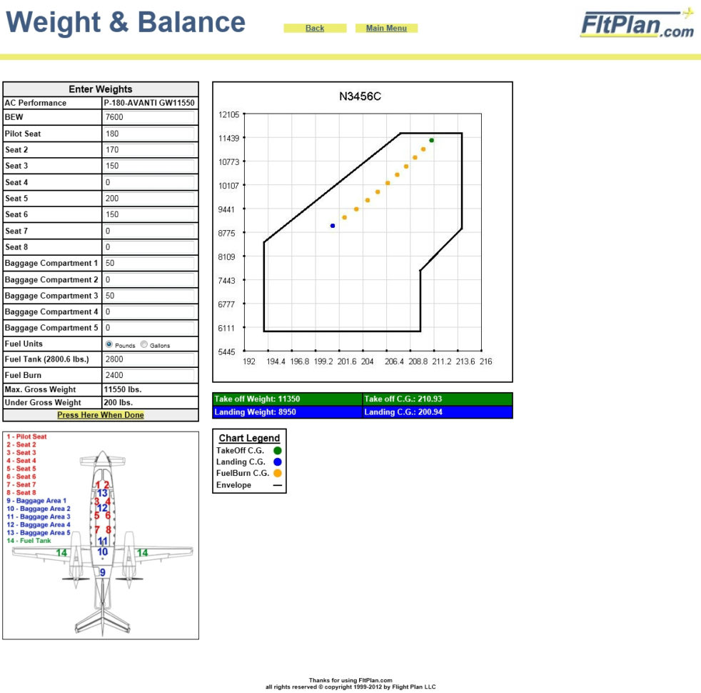 Cessna 206 Weight And Balance Spreadsheet Throughout Fltplan  Fltbrief  March 2012