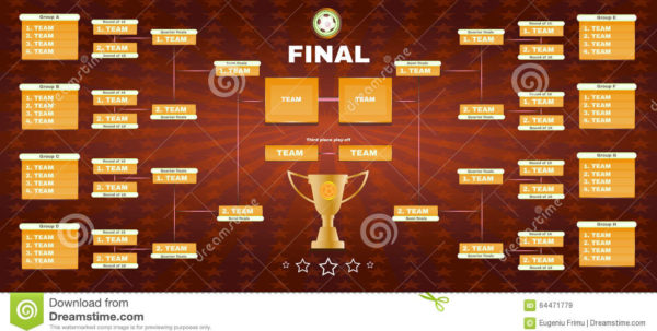 Champions League Spreadsheet For Soccer Champions Final Spreadsheet Stock Vector  Illustration Of