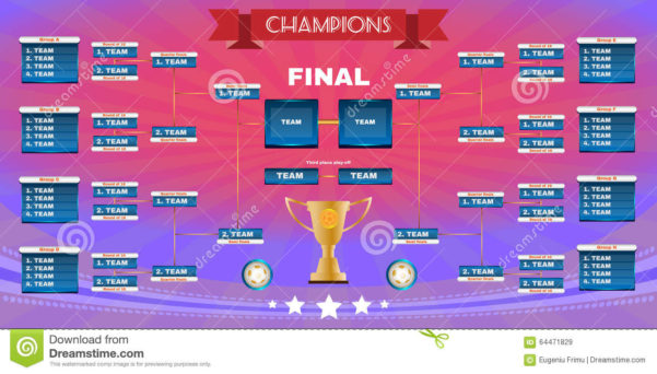 Champions League Spreadsheet Pertaining To Football Champions Final Spreadsheet Illustration 64471829  Megapixl
