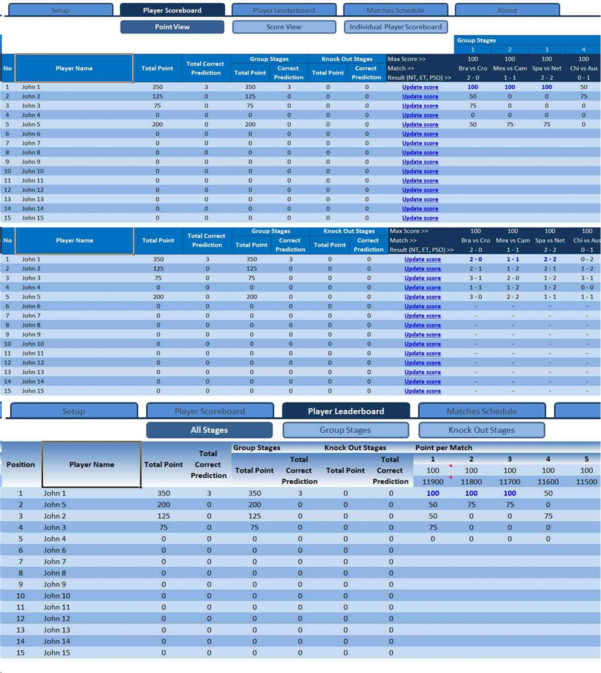 Champions League Spreadsheet Throughout 2018/2019 Champions League Fixtures And Scoresheet