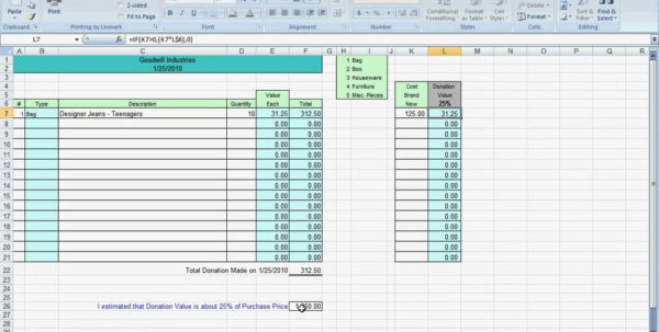 Charitable Donation Spreadsheet With Regard To Excel Charitable Donation Spreadsheet Instructions Youtube