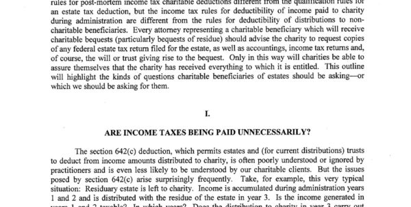 Charitable Remainder Trust Spreadsheet Regarding Estates With Charities As Beneficiaries: How Do We Protect  Pages