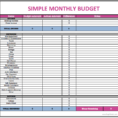 Charity Budget Spreadsheet pertaining to Sample Monthly Budget Worksheet Worksheets Simple Household