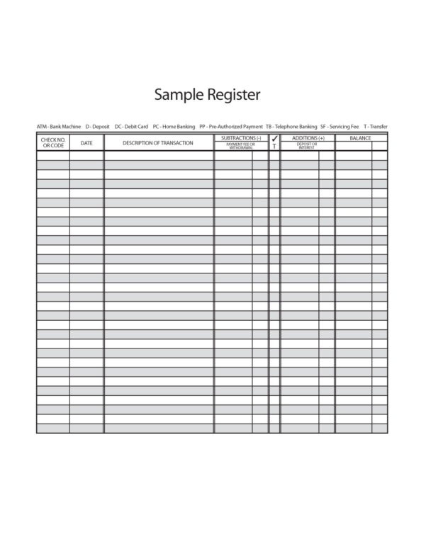Check Register Spreadsheet Template Throughout Bank Registers  Rent.interpretomics.co