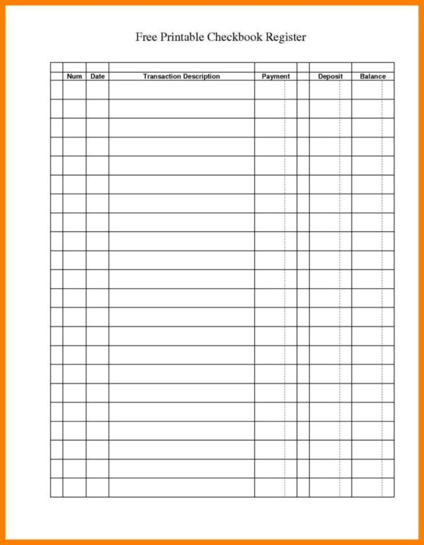 Check Register Spreadsheet Template Throughout Checking Account Worksheets For Students Printable Ledgers