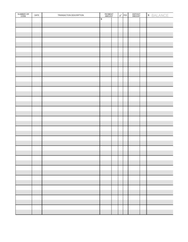 Checkbook Spreadsheet With Regard To 37 Checkbook Register Templates [100% Free, Printable]  Template Lab