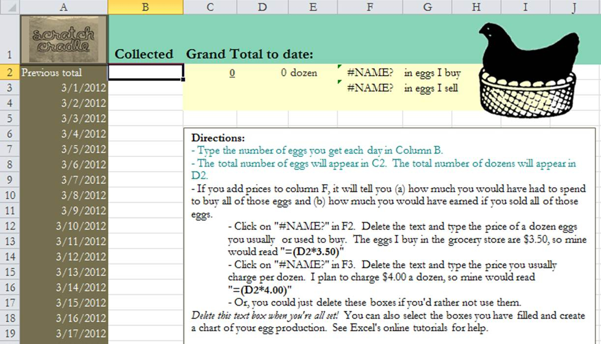 Chicken Expense Spreadsheet In Free Download: Egg Spreadsheet  Scratch Cradle