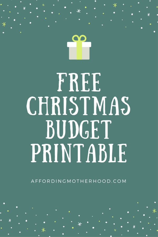 Christmas Budget Spreadsheet In Free Christmas Budget Worksheet Printable  Affording Motherhood