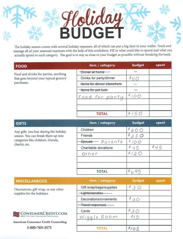 Christmas Budget Spreadsheet Inside Create Holiday Gift Expense Spreadsheet Mommysavers Example Of