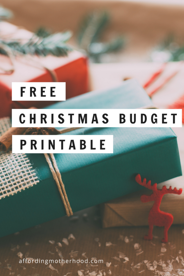 Christmas Budget Spreadsheet Inside Free Christmas Budget Worksheet Printable  Affording Motherhood