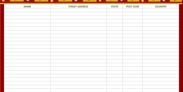 Christmas List Spreadsheet Pertaining To Christmas Wish List Template  Natashamillerweb