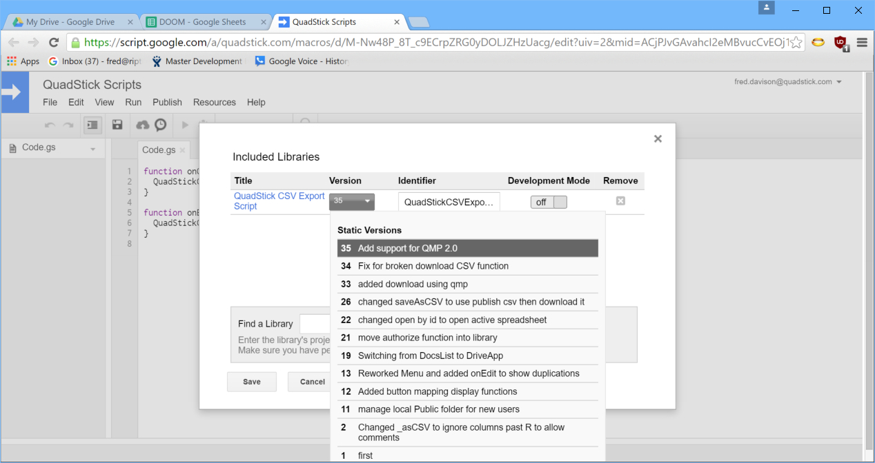 Chrome Spreadsheet In There's A New Qmp In Town  Google Groups
