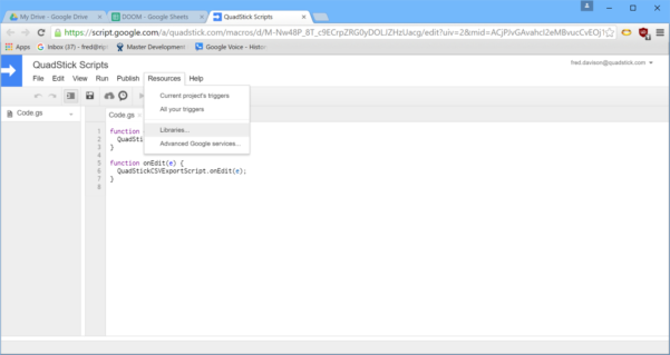 Chrome Spreadsheet With There's A New Qmp In Town  Google Groups