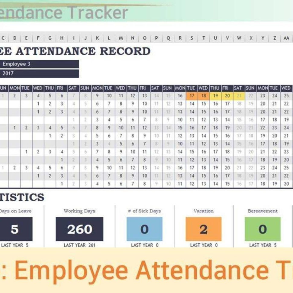 Church Attendance Tracking Spreadsheet With Regard To Excel Template  Employee Attendance Tracker  Youtube Pertaining To