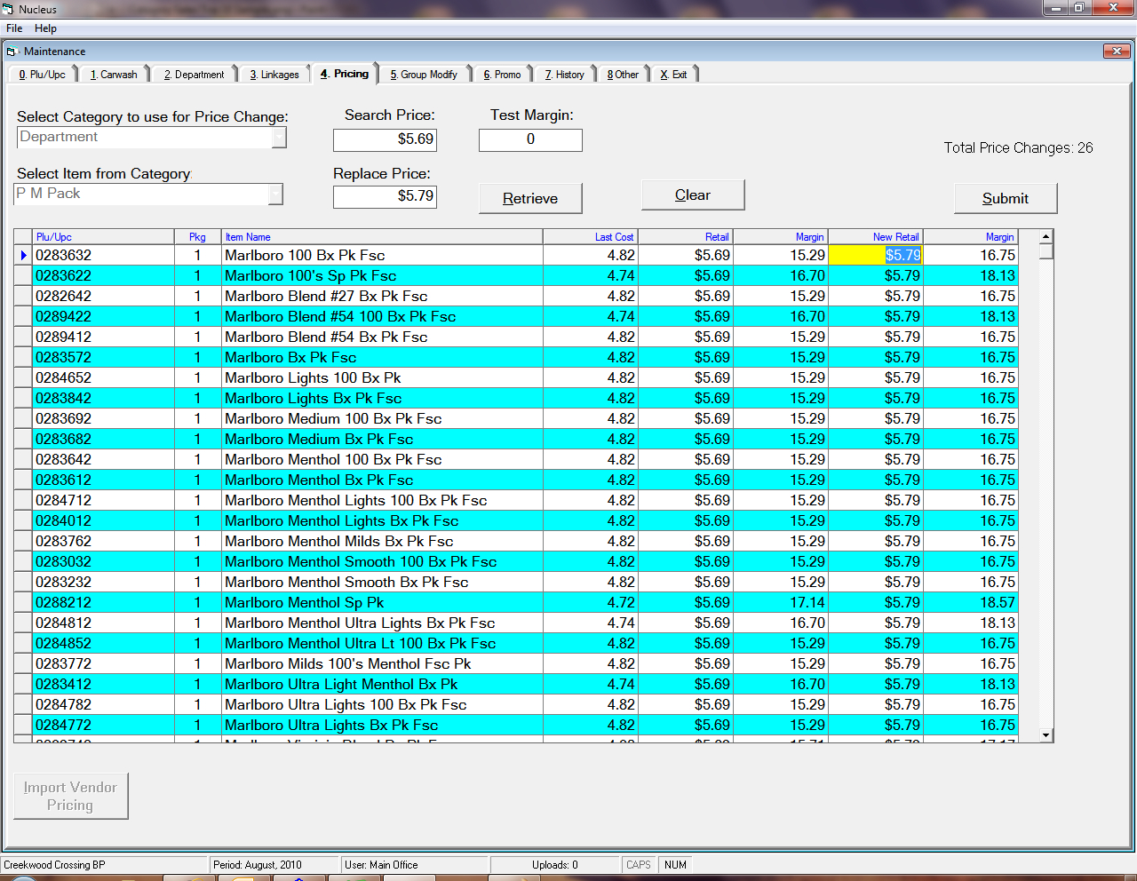 Cigarette Inventory Spreadsheet Within Gas Station Inventory Control Software  Convenience Store Inventory