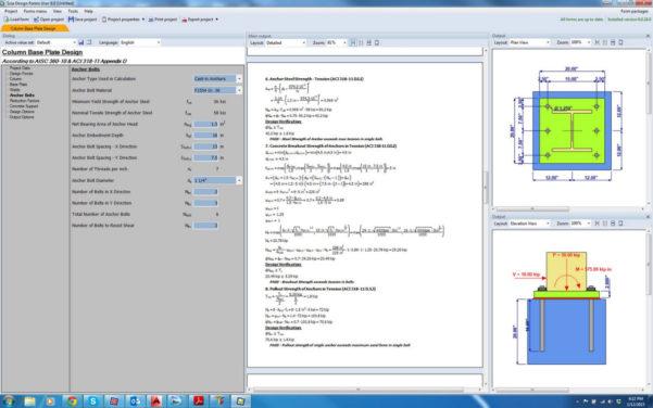 Circular Base Plate Design Spreadsheet For Column Base Plate  Anchor Bolt Scia Design Form