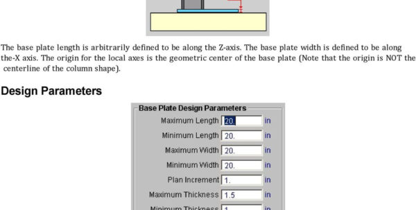 Circular Base Plate Design Spreadsheet For Risabase. Rapid Interactive Structural Analysis Base Plate And