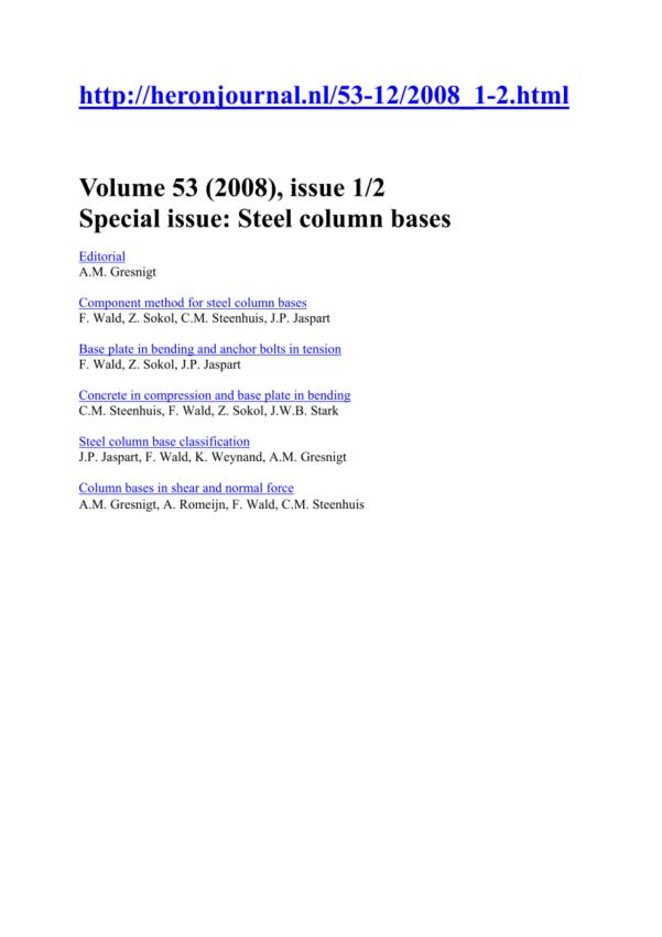 Circular Base Plate Design Spreadsheet In Pdf Design Of Circular Hollow Section Base Plates