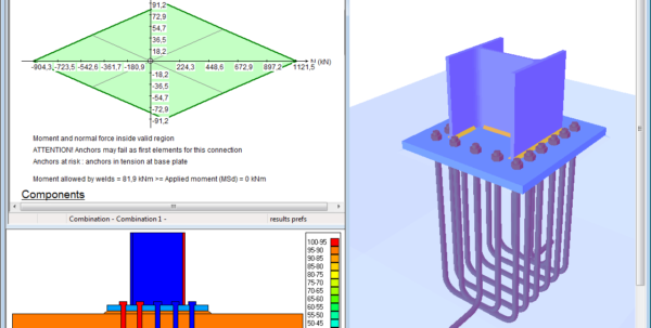 Circular Base Plate Design Spreadsheet With Bolted And Welded Steel Connection Design Software