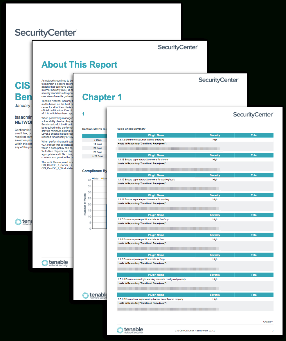 Cis Benchmark Excel Spreadsheet Pertaining To Cis Centos Linux Benchmark Reports  Sc Report Template  Tenable®