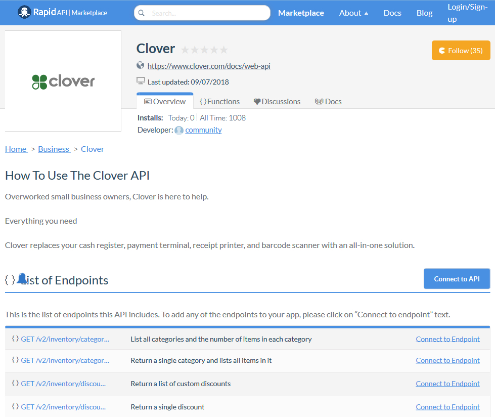 Clover Inventory Spreadsheet With Clover Api Overview, Documentation  Alternatives  Rapidapi