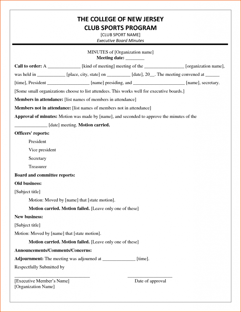 Club Treasurer Spreadsheet Template Inside Board Meeting Financial Report Template Committee Format Templates